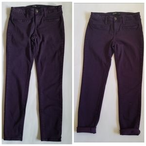 Just Black skinny ankle jeans stretchy purple 27P